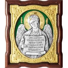 Икона Ангела Хранителя в серебре с позолотой и эмалью (арт. 12240263)