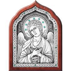Икона Ангела Хранителя в серебре и в деревянной рамке (арт. 12240264)