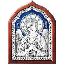 Икона Ангела Хранителя в серебре с эмалью и в деревянной рамке (арт. 12240265)