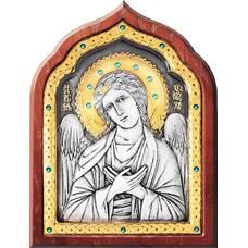 Икона Ангела Хранителя в серебре с позолотой и эмалью (арт. 12240266)