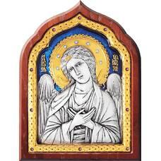 Икона Ангела Хранителя в серебре с позолотой и эмалью (арт. 12240267)