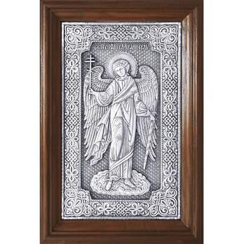 Икона Ангела Хранителя в серебре и в деревянной рамке (арт. 12240272)