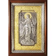 Икона Ангела Хранителя в серебре с позолотой и эмалью (арт. 12240276)