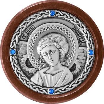 Икона в машину с образом Ангела Хранителя в серебре (арт. 12240280)