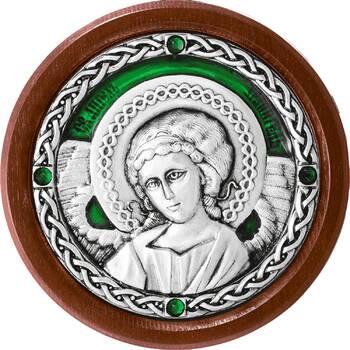Икона в машину с образом Ангела Хранителя в серебре с эмалью (арт. 12240281)