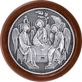 Икона Святая Троица в серебре и деревянной рамке (арт. 12240295)