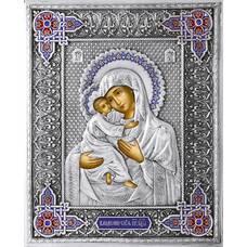 Владимирская икона Божией матери в ризе с эмалью 122403