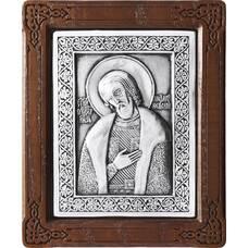 Икона Александр Невский в серебре и деревянной рамке (арт. 12240311)