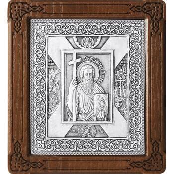 Икона Андрей Первозванный в серебре и деревянной рамке (арт. 12240314)