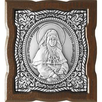 Икона Арсения Усть-Медведицкая в серебре с эмалью и деревянной рамкой (арт. 12240316)