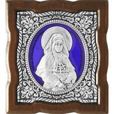 Икона Арсения Усть-Медведицкая в серебре с эмалью и деревянной рамкой (арт. 12240317)