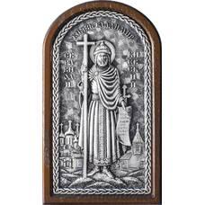 Икона Владимир, святой равноапостольный князь в серебре и деревянной рамке (арт. 12240318)