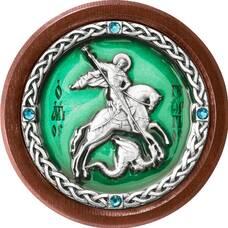 Икона в машину Георгий Победоносец в серебре с эмалью (арт. 12240337)