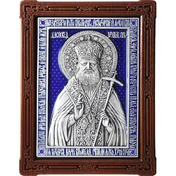 Икона Лука Войно-Ясенецкий, свт. Симферопольский и Крымский в серебре с эмалью (арт. 12240351)