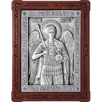 Икона Архангел Михаил в серебре и деревянной рамке (арт. 12240363)