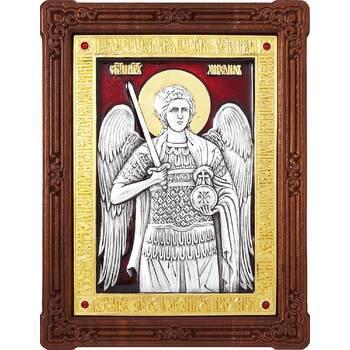 Икона Архангел Михаил в серебре с эмалью и позолотой (арт. 12240366)