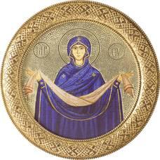 Икона Покрова Богородицы басменном окладе (арт. 1224040)