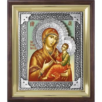 Икона Грузинской (Раифской) Божией Матери в ризе и деревянном окладе (арт. 1224043)