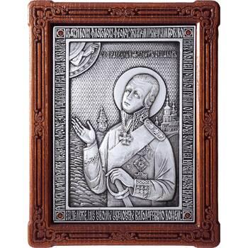 Икона Феодор Ушаков в серебре и деревянной рамке (арт. 12240432)