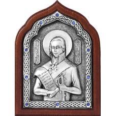 Икона Феодор Ушаков в серебре и деревянной рамке (арт. 12240434)