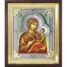 Икона Грузинской (Раифской) Божией Матери в ризе и деревянном окладе (арт. 1224044)