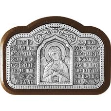 Икона в машину с молитвой водителя и образом Ангела Хранителя в серебре 12240447