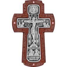 Настенный крест с Архангелами в серебре и рамкой из ясени (арт. 12240454)
