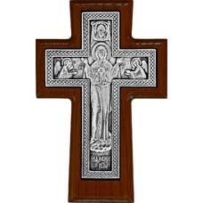 """Настенный крест """"Богородничный"""" в серебре и рамкой из ясени (арт. 12240456)"""