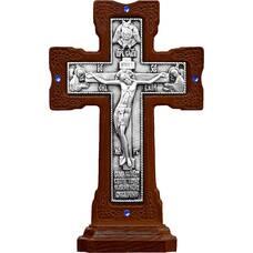 """Крест настольный """"Ажурный"""" в серебре и рамке из ясеня (арт. 12240470)"""