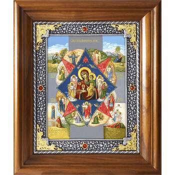 Икона Божией Матери Неопалимая Купина в ризе и деревянном киоте (арт. 1224048)