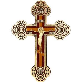Настенный крест с полной поталью и бронзовым распятием (арт. 12240483)