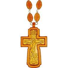 Наперсный крест (иерейский) резной из яблони и груши (арт. 12240485)