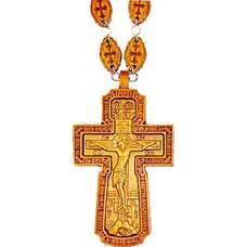 Наперсный крест (иерейский) с молитвой резной из яблони и груши (арт. 12240486)