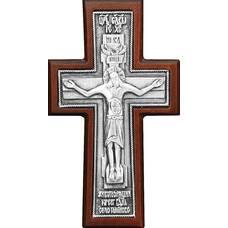"""Крест в машину """"Годеновский"""" в серебре в рамке из клена (арт. 12240491)"""