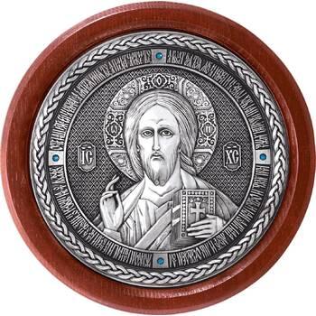 Икона Господь Вседержитель в серебре и деревянной рамке (арт. 12240496)