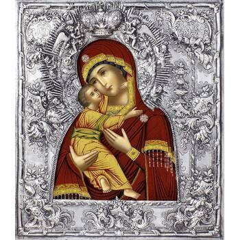 Владимирская икона Божией матери в ризе (арт. 122405)
