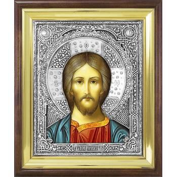 Икона Господь Вседержитель в ризе и деревянном киоте (арт. 1224052)