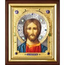 Икона Господь Вседержитель в ризе и деревянном киоте 1224053