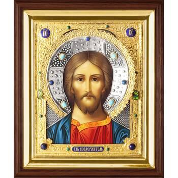 Икона Господь Вседержитель в ризе и деревянном киоте (арт. 1224053)