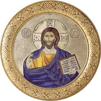 Икона Господь Пантократор в басменном окладе (арт. 1224073)