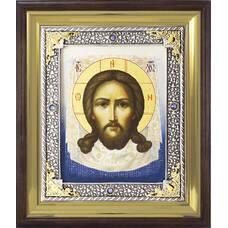 Икона Спас Нерукотворный в ризе и деревянном киоте (арт. 1224075)