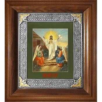 Икона Воскресение Христово в ризе и деревянной киоте (арт. 1224077)