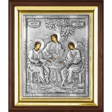 Икона Святая Троица в ризе и деревянном киоте (арт. 1224079)