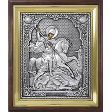 Икона Георгий Победоносец в ризе и деревянном окладе (арт. 1224089)