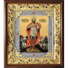 Икона Илия Муромец в ризе и деревянном киоте (арт. 1224095)