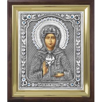 Икона Матрона Московская в ризе и деревянном киоте (арт. 1224098)