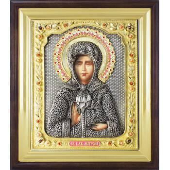 Икона Матрона Московская в ризе и деревянном киоте (арт. 1224099)
