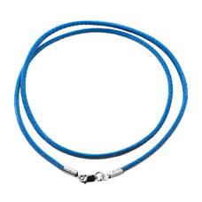 Шнурок на шею голубого цвета из нейлона с серебряной застежкой 13171-21