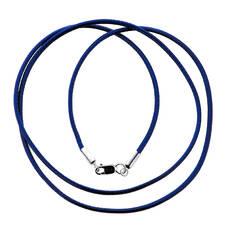 Гайтан нейлоновый синего цвета с серебряным карабином 13171-25