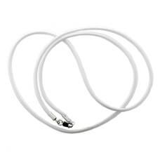 Плетеная веревочка для крестика белого цвета из нейлона с серебряной застежкой 13171-27